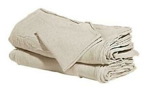 500 Industrial Shop Cleanup Rags Towels Natural