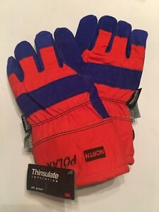 Case Of 72 Pair 3m North Polar Winter Insulated Waterproof Leather Gloves Large