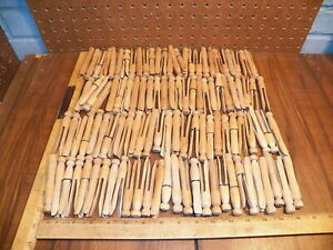 Vintage Lot Of Wood Round Peg Clothes Pins