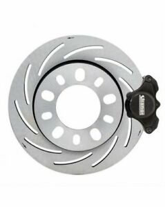 Strange Disc Brakes Pro Race Front Slotted Rotors 2 Piston Calipers Ford Mustang