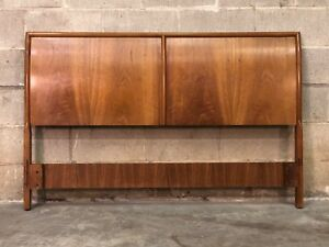 Barney Flagg For Drexel Parallel Mid Century Modern Full Size Headboard