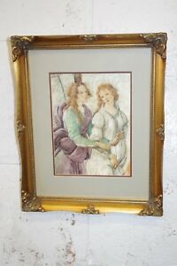 Vintage Gold Gilt Ornate Wood Picture Frame Print Photo Painting