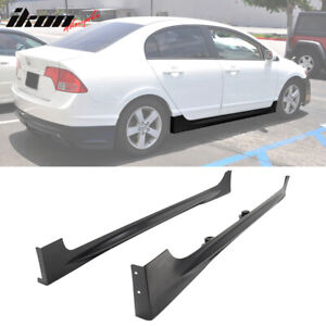 Fits 06 11 Honda Civic Mugen Rr Style Side Skirts Unpainted Pp