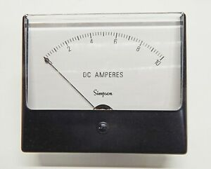 Simpson Electric Century Style Analog Panel Meter Dc Ammeter Nos