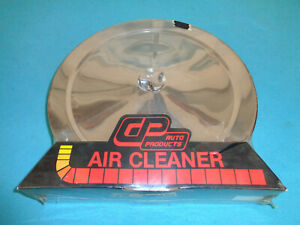 Cp Auto Products Chrome 4 bbl Air Cleaner Assembly 14 X 4 W offset Carb Neck