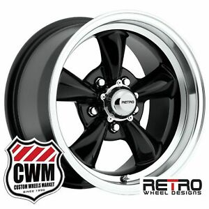 15 Inch 15x8 930b Black Wheels For Chevy S10 Blazer 2wd 1995 2005 Rims