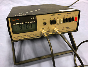 Simpson Micro ohmmeter 444 Micro Ohmmeter W probes Recent Calibration