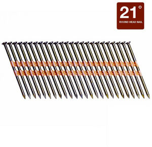 3 Inch Smooth Shank Nail Framing Carpenter Plastic Collated Fastening 21 Degree
