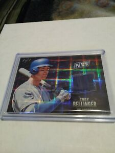 CODY BELLINGER 2017 11 Panini Black Friday Hyperplaid RC RelicPatch Dodgers