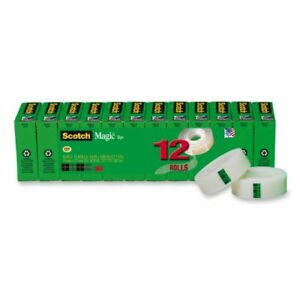 Scotch Magic Invisible Tape Refills 0 75 Width X 83 33 Ft Length