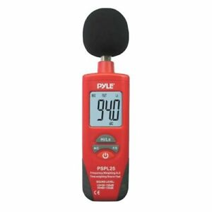 Pyle Pspl25 Sound Level Meter red black Color