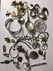 185 Grams Sterling Silver 925 Scrap And Wearable Nice Mixed Lot
