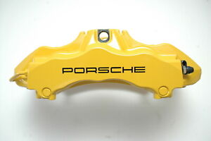 Porsche 997 Gt3 Ceramic Brake Caliper Right Front 99735143292 Yellow