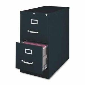 Lorell Vertical File Cabinet 18 X 26 5 X 28 4 Steel 2 X File Drawer s