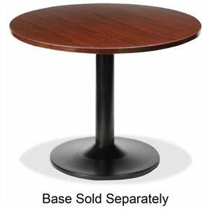 Lorell Essentials Conference Table Top Round 42 Wood Polyvinyl Chloride