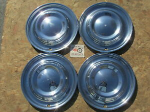 1951 Lincoln Cosmopolitan 15 Wheel Covers Hubcaps Set Of 4 extremely Rare