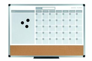 Mastervision 3 in 1 Monthly Dry erase Calendar Board mb0707186p