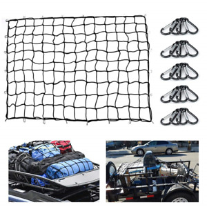 Heavy Duty Bungee Cargo Net 5 x7 Truck Bed Nets Stretches To 10 x14 Suv Cargo