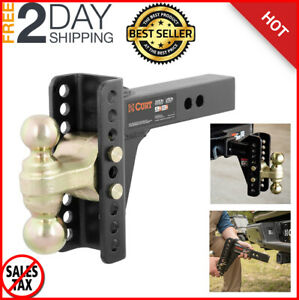 Drop Hitch Ball Mounts Heavy Duty Adjustable Option For Rv truck Receiver