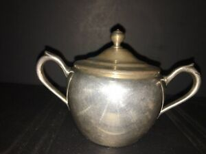 Silver Plated Sugar Bowl Made By F B R Taunton Mass Silver On Copper 2311
