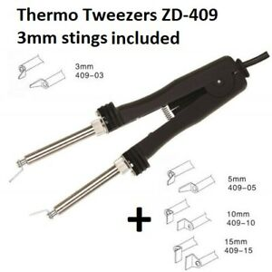Sale Soldering Iron Thermo Tweezers With 2 Stings For Dismantling Smd 48w 220v