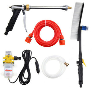 Portable 100w High Pressure Washer Brush Wash Pump Pipe Car Electric Charger