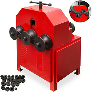 Electric Pipe Tube Bender Multi Function 9 Round 8 Square Dies With Cover