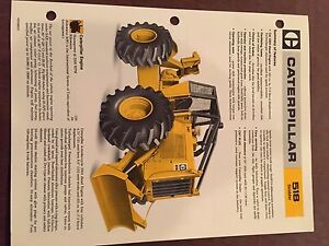 Cat Caterpillar 518 Cable Skidder Grapple Brochure Original Antique