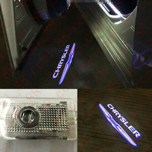 For Chrysler 300 300c 2005 2019 2x Led Door Step Courtesy Laser Projector Lights