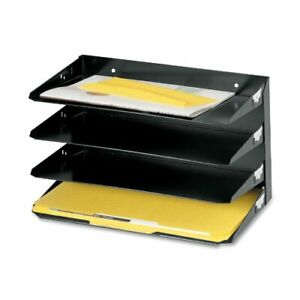 Mmf Steelmaster Horizontal Desktop File Organizer Wall Mountable 9 3 Height