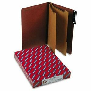 Smead 19230 Red Pressboard Classification Folder With Safeshield Fasteners