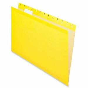 Esselte Hanging Folder Legal 8 50 X 14 1 5 Tab Cut Yellow 25 Box