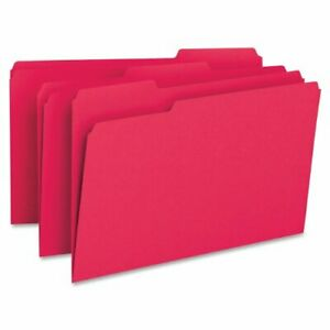 Smead 17743 Red Colored File Folders Legal 8 50 X 14 0 75 Expansion