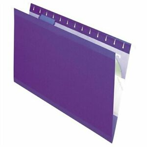 Esselte Hanging Folder Legal 8 50 X 14 1 5 Tab Cut Violet 25 Box