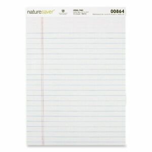 Nature Saver Recycled Legal Ruled Pad 50 Sheet 15 Lb Legal wide Ruled