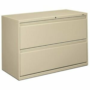 Hon 800 Series Full pull Lateral File 42 X 19 3 X 28 4 Steel 2 X File