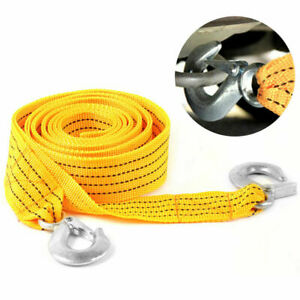 3 Meters Car Vehicle Road Tow Rope Emergency Towing Strap Heavy Duty 3 Tons Hot