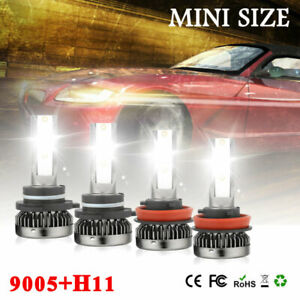 Mini 9005 H11 Led Headlight Hi Lo Beam Bulbs For Chevy Silverado 1500 2008 2009