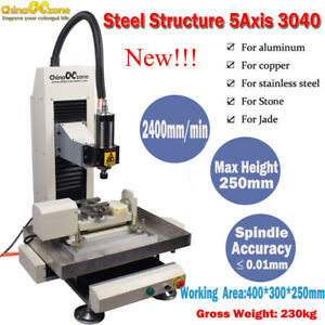 Steel 5axis 2 2kw Cnc 3040 Steel Metal Router Engraving Milling cutting Machine