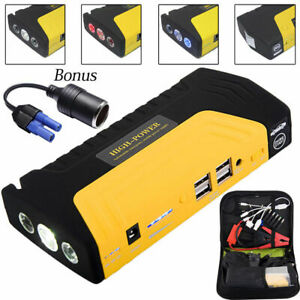12v Car Jump Starter 600a Booster 68800mah Emergency Battery Charger Power Bank