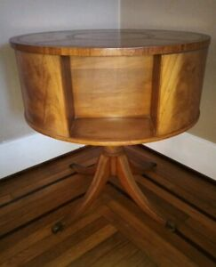 Imperial Furniture Company Rotating Drum Table