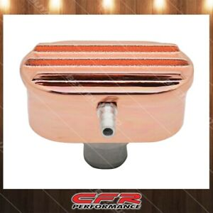 For Chevy Ford Mopar Finned Copper Aluminum Breather With Tube Fits 1 25 Hole