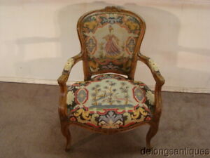 53396 Beautiful French Needlepoint Chair