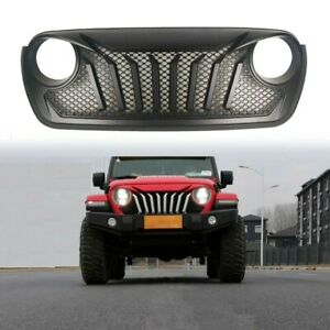 Jeep Jl Front Grille For Jeep Wrangler Jl 2018 2019 With Mesh Inserts