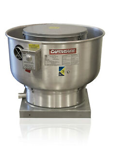 Low Profile Grease Rated Food Truck Exhaust Fan 500 1000 Cfm du33hfa