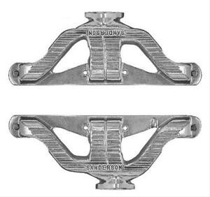 Sanderson Headers Headers Shorty Cast Iron Natural Chevy Small Block Pair