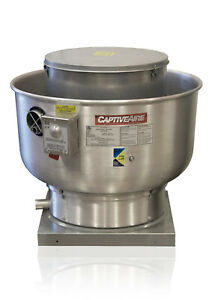Restaurant Canopy Hood Grease Rated Upblast Exhaust Fan 100 500 Cfm du12hfa