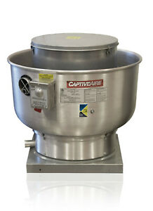 Restaurant Canopy Hood Grease Rated Upblast Exhaust Fan 500 1000 Cfm du33hfa