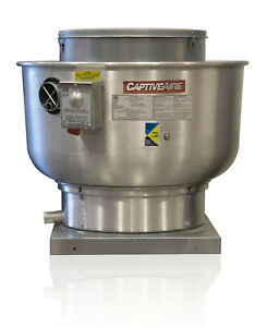Restaurant Canopy Hood Grease Rated Belt Drive Exhaust Fan 1200 Cfm nca10fa