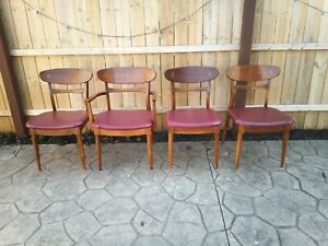 Mid Century Modern Lane Acclaim Andre Bus Dining Chairs Set Of 4